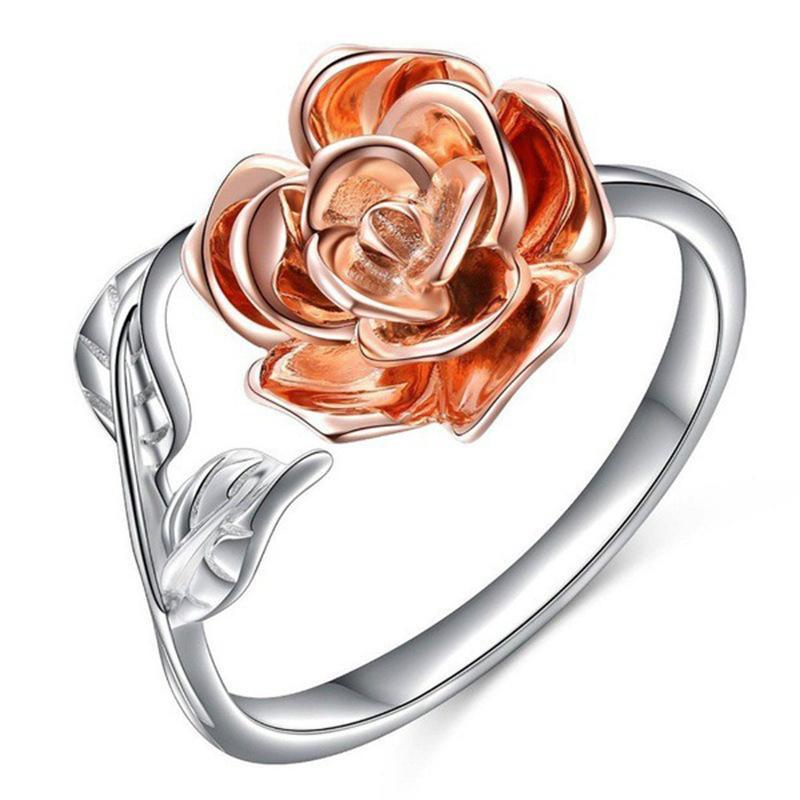 2020 новый классический популярный роза кольцо из розового золота цветоделения открытое кольцо женской моды простой универсальный