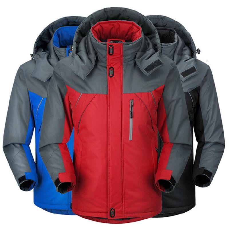 Parka d'hiver Hommes plus de velours chaud coupe-vent Manteaux Hommes Vestes capuche militaire Casaco Masculino Casacos des hommes Outwear Pardessus