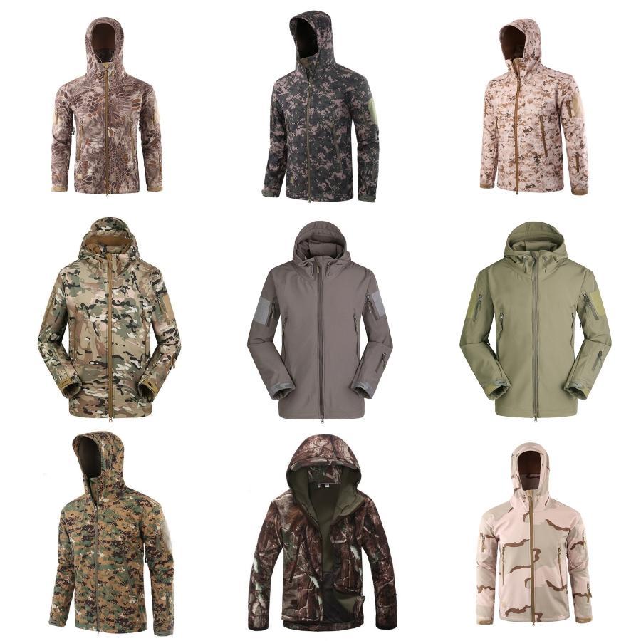 Winter Jacket Brasão Men Thick Windproof capa Parka Mens casacos e O-Neck Coats Windbreaker Outdoorsport # 950