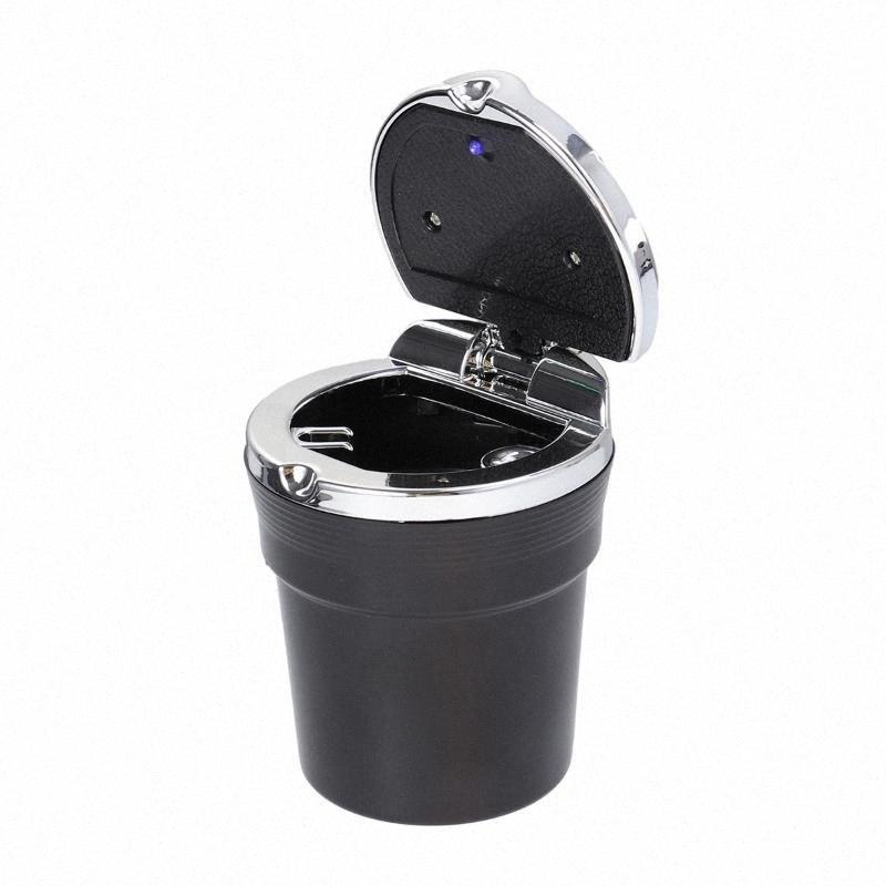 Portable auto del coche sin humo soporte para la taza del cilindro del cigarrillo titular cenicero con luz LED azul yP7P #