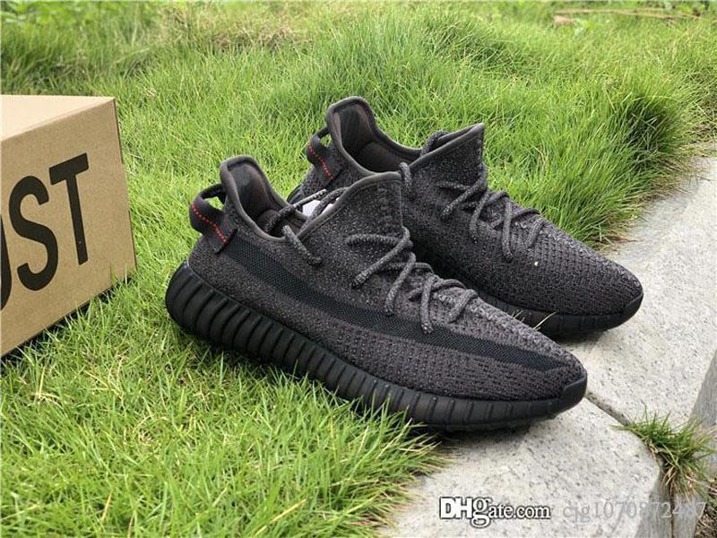 En Gerçek Siyah 3M Yansıtıcı kanye Batı Tasarımcı Womens Koşu Ayakkabı Yeezreel Yecheil Sitrin Bulut Beyazı Glow Eğitmenler Spor Sneaker