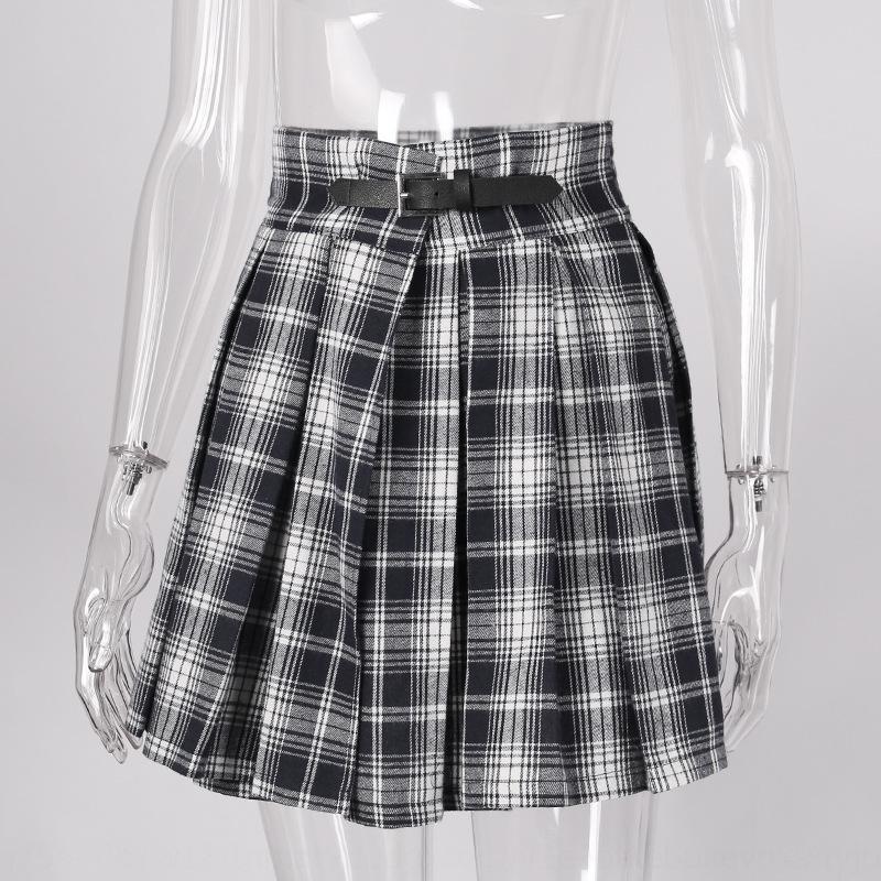 ins de style d'été Frt2S uniforme orthodoxe noir plissé tablier 82347 haute jupe hanche jupe tablier de taille