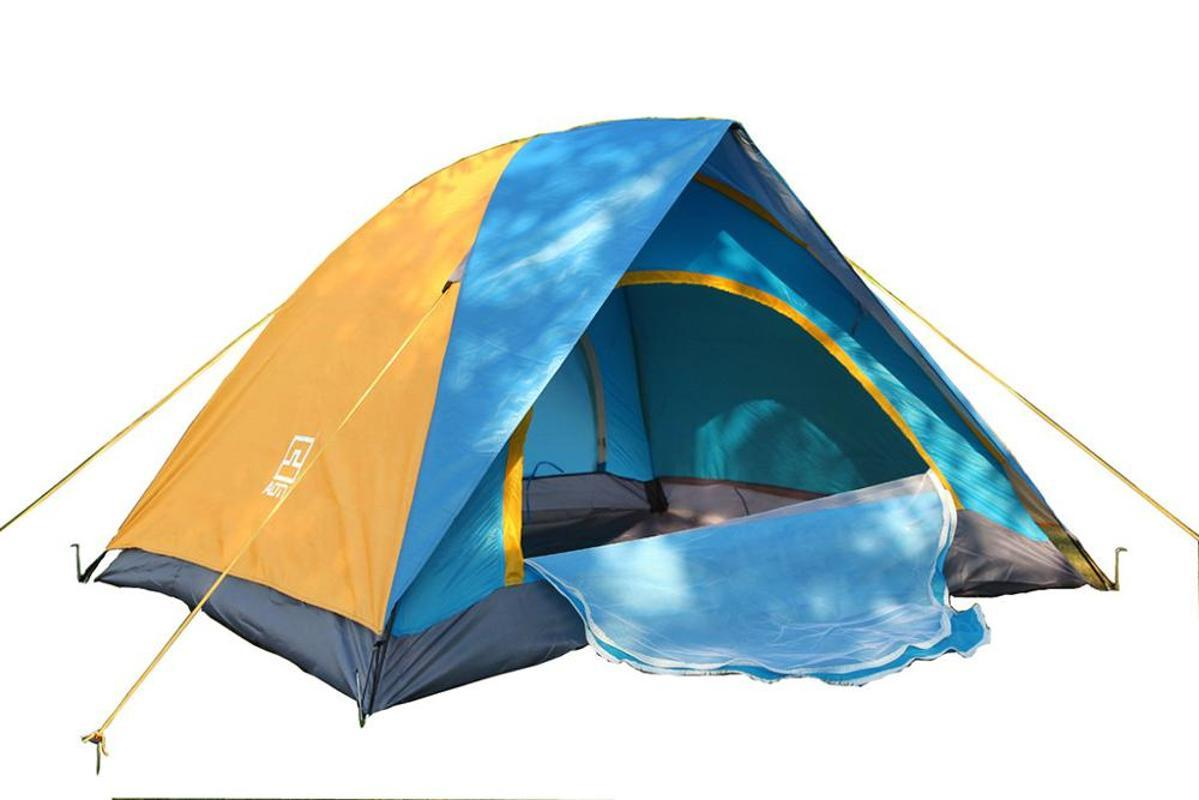 Hot Portable Outdoor camping tent Automatic speed open 2-3 people camping free to build a tourist Travel tent rainproof f3