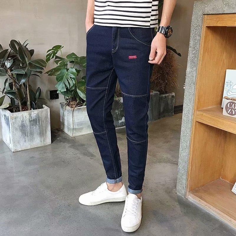 K0kmU e pantaloni e jeans stretch piedi nove blu pantaloni jeans di denim 2019 Abbigliamento Uomo maschile