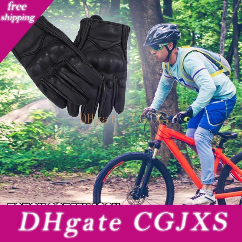 Натуральная кожа Off в дорожно- Мотоцикл перчатки сенсорный экран Водонепроницаемые перчатки водонепроницаемый электрический велосипед перчатки Мото перчатки