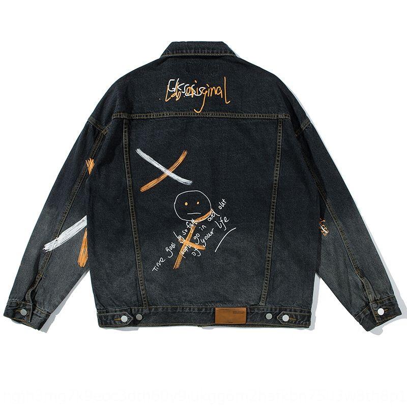 casaco vestido de verão tKrBL Sul Outono 2020 bolso nacional moda de rua masculina decorativo hip-hop ocasional Nacional impressa YQ5I0 jacke solta