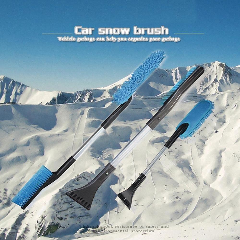 1Set Новые высокого качества автомобилей Автомобиль Многофункциональный Снег Лед скребок снег Кисть лопата для удаления щетки Зимние Инструменты для автомобилей hwPK #