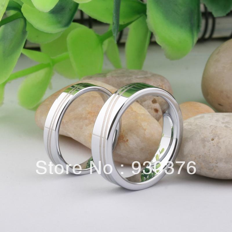 Free Shipping Super Deal Size 4-12.5 Tungsten gold ring Woman Man's wedding Rings Couple Rings,Can Custome