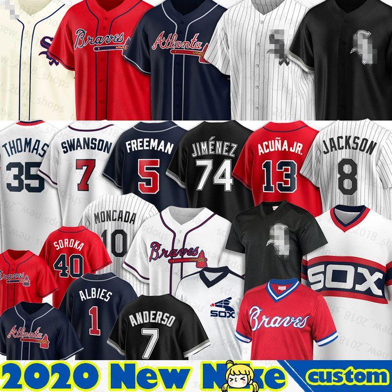 74 Eloy Jimenez White Sox Jersey 8 Bo Jackson 10 Yoan Moncada 72 Carlton Fisk 79 Jose Abreu 35 Frank Thomas 30 Nomar Mazara Baseball