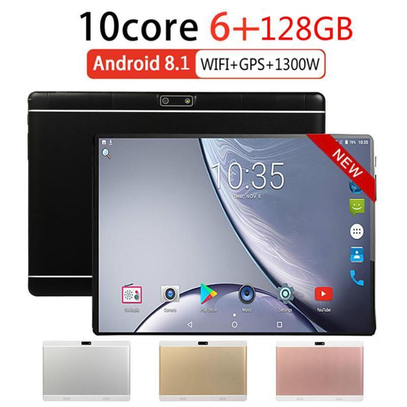 Global Version 10 Inch 6G+128GB Tablet PC 4g LTE Two SIM Card Phone Call Bluetooth Car Player GPS Google Play 5 MP Camera