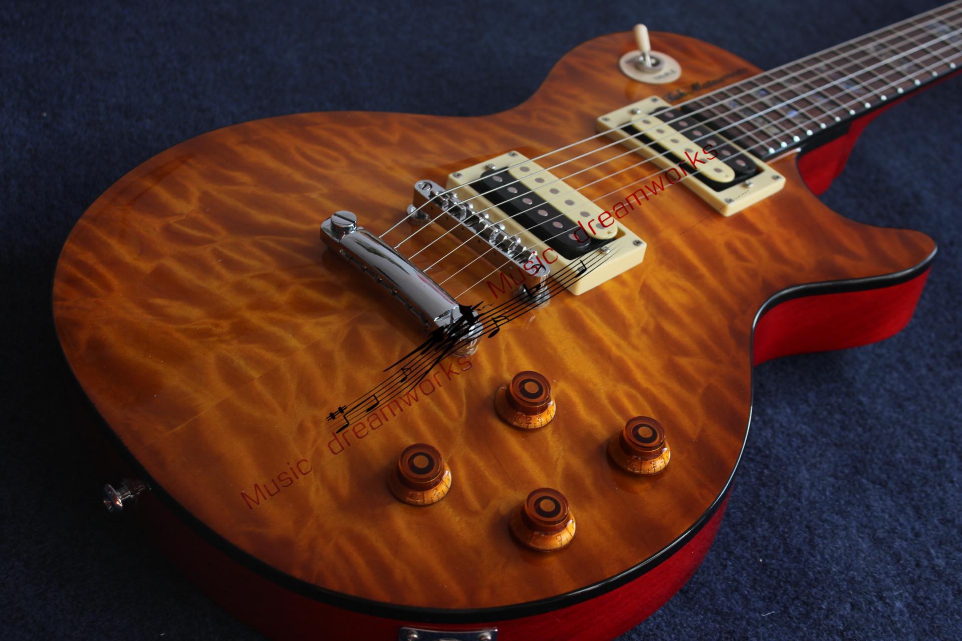 Chine G Guitar électrique G Guitare électrique G Stand standard Bois d'érable matelassé, Couleur rouge Choix naturelle Inlays Touche en palissandre