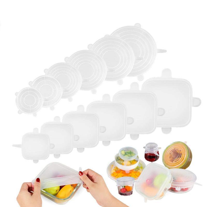 عالية الجودة 150G 6PCS / مجموعة غطاء سيليكون جديدة لحفظ شفط وعاء اغطية الصف الغذاء الطازج التفاف ختم غطاء مطبخ أدوات زينة