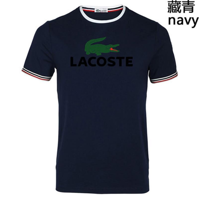 100% COTTON men t shirt casual short sleeve t-shirt Men's women Crocodile Embroidery men T shirt crewneck mens tee shirt Plus Size S-5XL