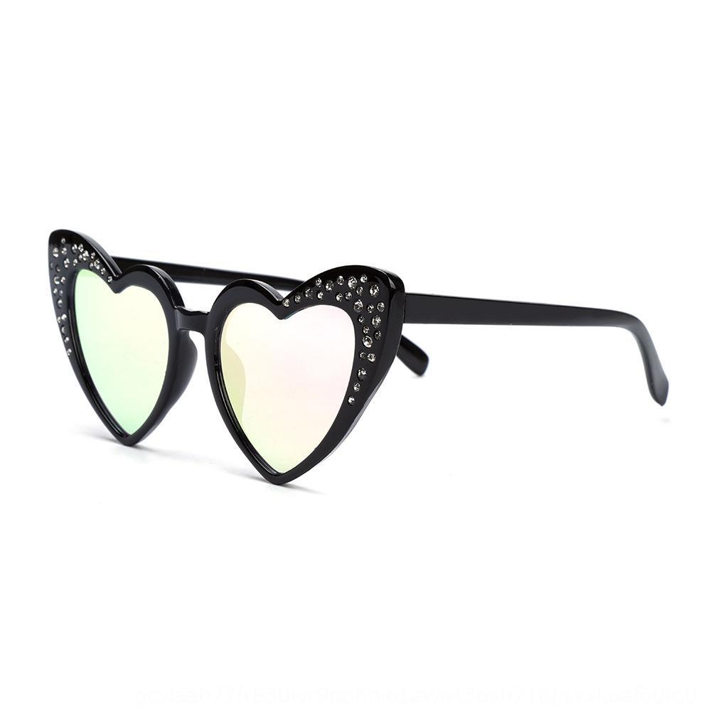Nuevo sol con diamantes incrustados de los niños en forma de corazón de los niños gafas de sol de diamantes de imitación de la moda 2020 de sol