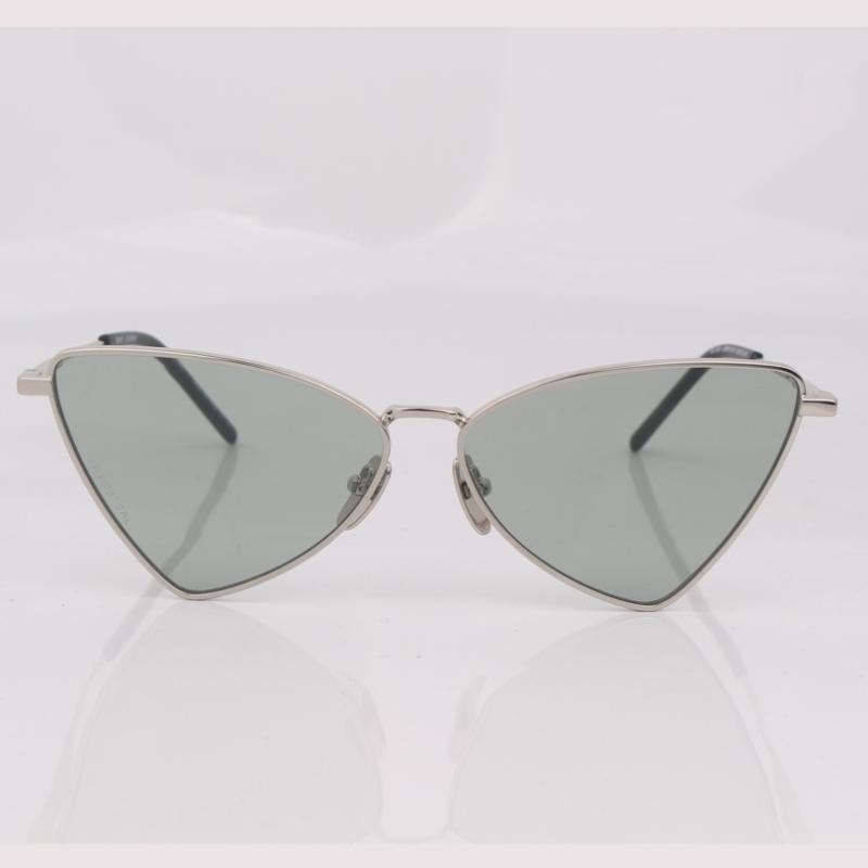 Cat Sunglasses Eye Metal Silver Frame Women Fashion Eye Shaped Wear Triangle Women Fgvdg