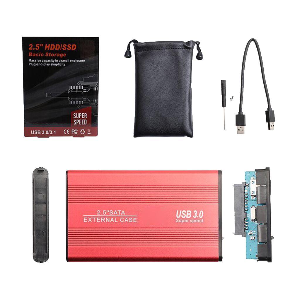 """2.5 \"""" Harddisk Kutu, Masaüstü Dizüstü Yeni için 2.5 SSD Sabit Disk HDD Case SATA USB3.0"""