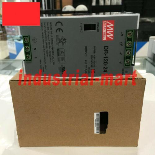 One MEAN WELL DR-120-24 AC to DC DIN-Rail Power Supply
