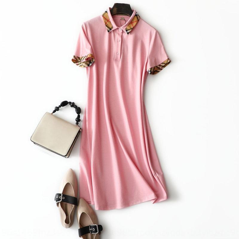 estilo Uf4Jd Jovem balcão vestido da manta de qualidade Sports estilo britânico costura clássico POLO collarhome vestido ocasional