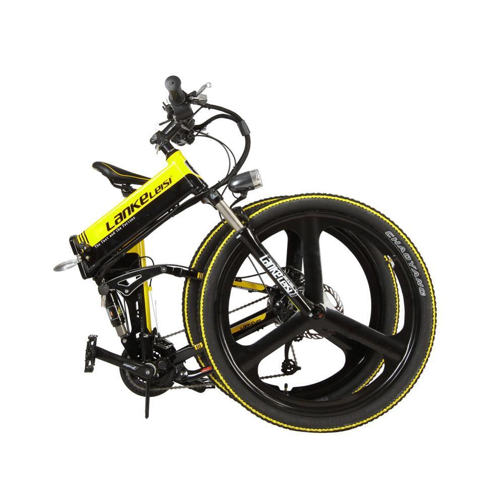 toptan XT750 Katlanabilir Akıllı Elektrik Dağ Bisikleti Tam Askıya alma 250 Watt 36V 12.8A In Pil 17 * 26 inç 27 Hız Bisikleti