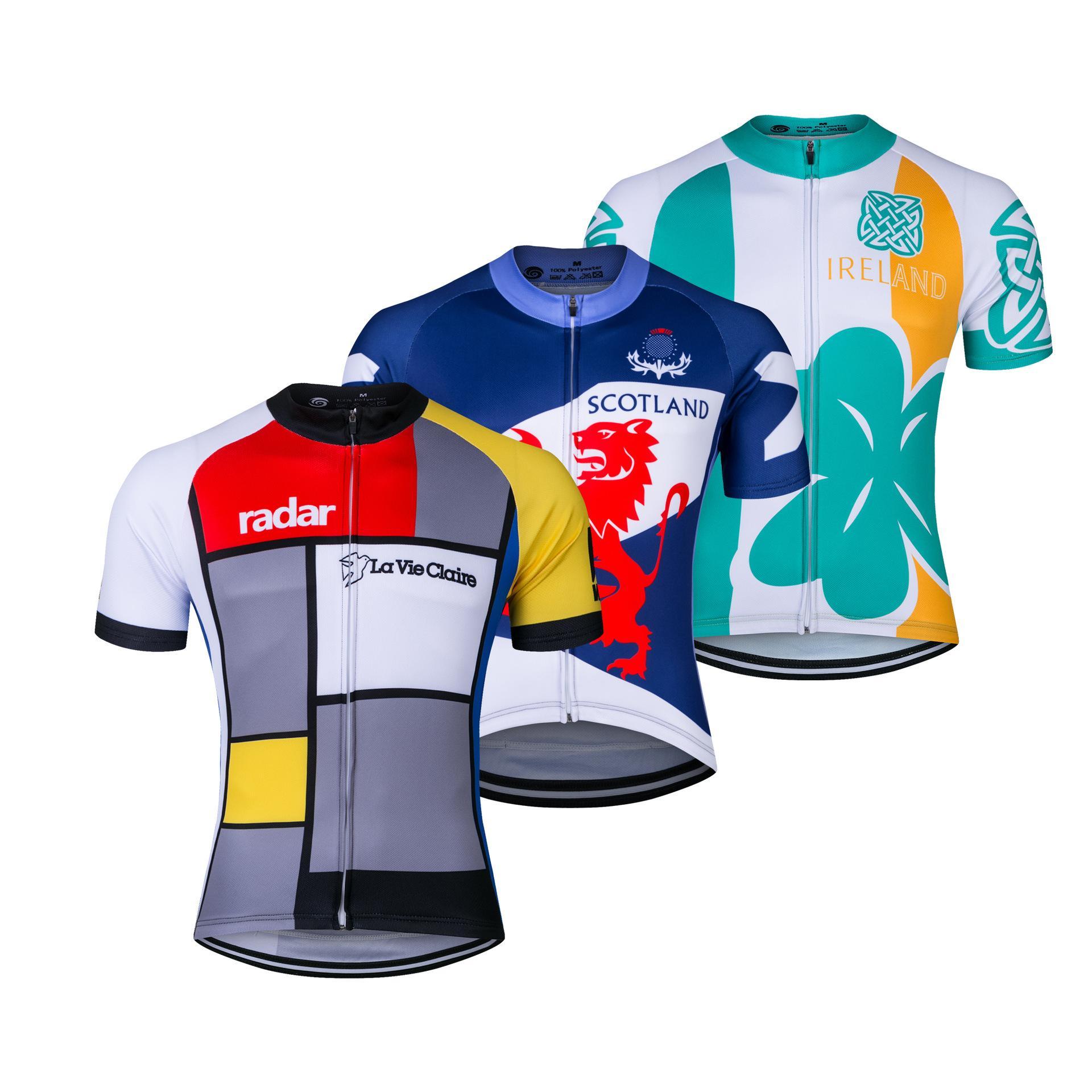 2020 Scottland Gales del camisas jerseys de ciclo corto bici de la manga de los hombres de MTB de la bicicleta Jeresy ropa de ciclo del desgaste Ropa Maillot ciclismo
