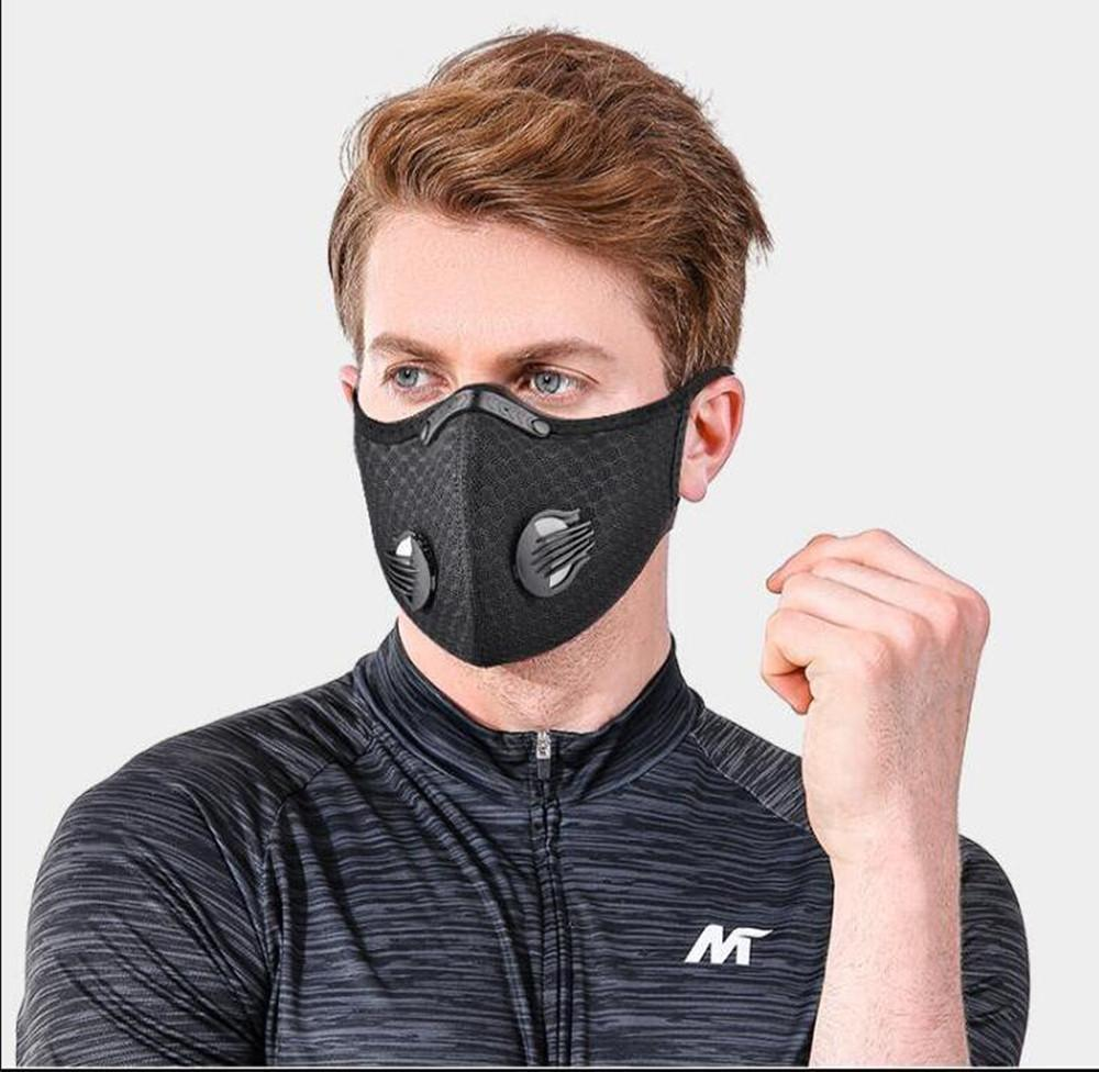 US Stock! Mesh dust/gas mask with dust cover, cycling mask outdoor smog protection for men and women adjustable respirator mask FY9060