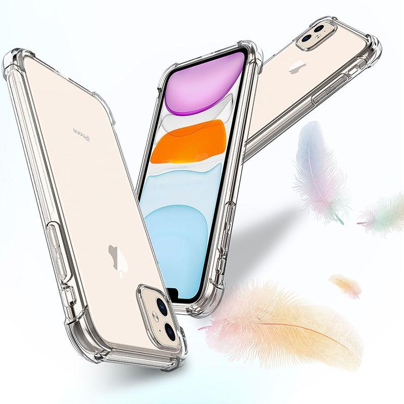 iPhone11 11Pro 최대 X XS XS MAX XR 8 7 6 플러스 소프트 젤 TPU 케이스 클리어 뒤 표지 무료 배송 충격 방지 투명 전화 케이스