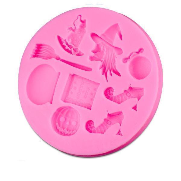 Горячие продаж Witch Силиконовые Mold Fondant украшения торта инструменты силикона мыла прессформы торта силикона Mold