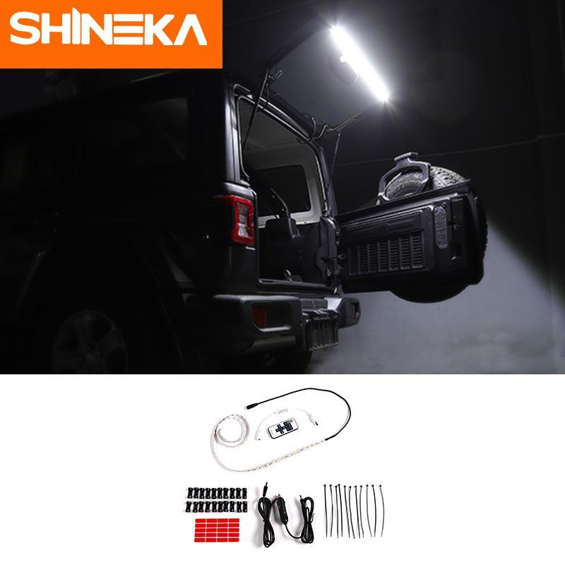 지프 랭글러 TJ에 대한 SHINEKA JK JL 지프 랭글러 TJ JK JL에 대한 1,997에서 2,018 사이 뒷문 라이트 트렁크 조명 후면 테일 램프 LED 램프