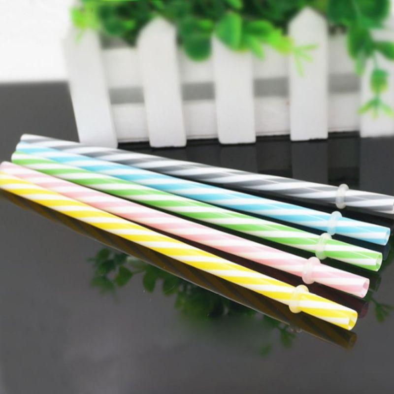 Reusable Silicone Drinking Straws Extra Long Flexible Straws for Tumbler Bar Party