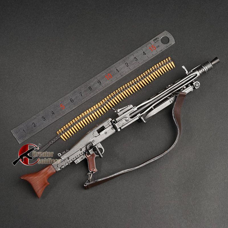 1: 6 mg34 mg42 mp44 98k Automatikgewehr Maschinengewehr Modell MONTAGE Kunststoff WWII Waffe für 1/6 Soldat Militäryspielzeug