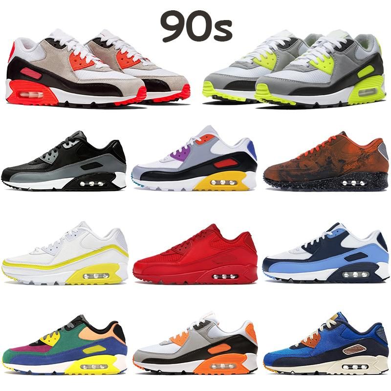 Yeni Koşu Ayakkabıları 90s Erkek Eğitmenler UNC UNDEatsız Beyaz Yeşil Mavi Fury Gül Kraliyet Yelken Üzüm Üçlü Beyaz Turkuaz Kadın Yastık Ayakkabı