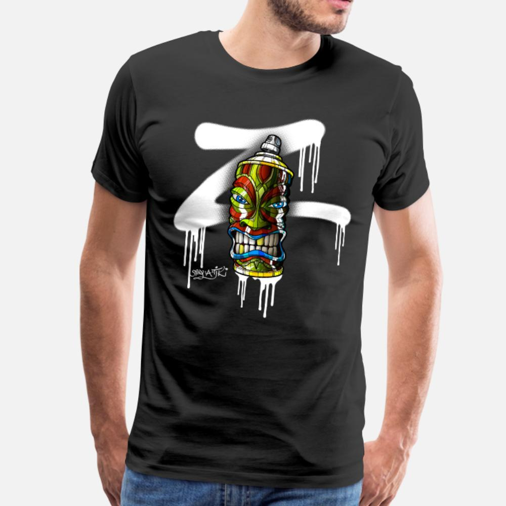 Spray A Tiki Z 01 t shirt men Customized tee shirt Crew Neck male Fitness Building summer cool shirt