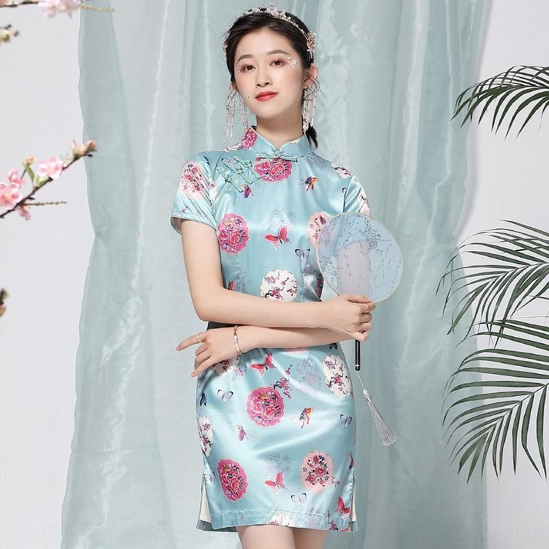 4HzyH abito stile cinese 2020 del vestito dal cheongsam dei vestiti delle donne eleganti di estate nuovi breve quotidiana migliorato cheongsam sBaSQ 19261
