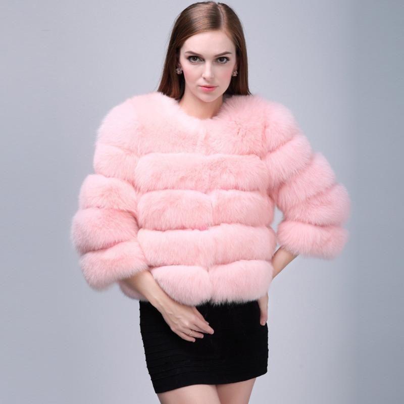 Artı 3XL Vizon Coats Kadınlar Katı Kürk Zarif Kalın 2020 Kış En Moda Sıcak Sahte Dış Giyim Kürk Ceket Chaquetas Mujer