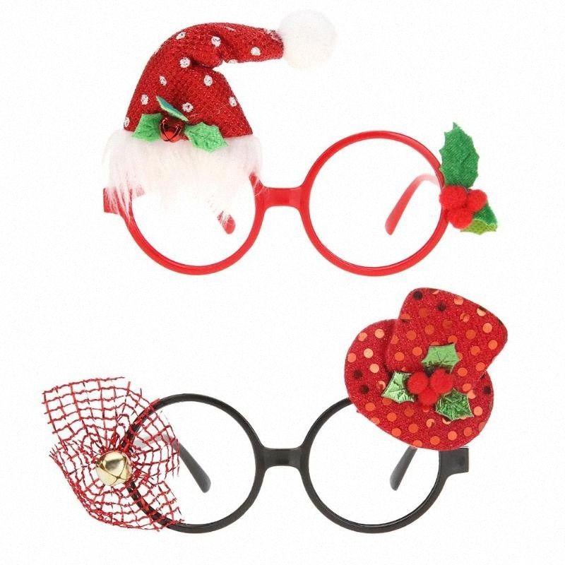 Elementi di Natale Ornamenti di Natale creativo Festa Occhiali Telaio decorazione di DIY nuovo anno di natale decorazioni Occhiali regalo per i capretti XmoY #