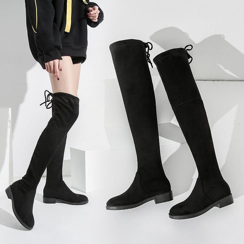 Sexy degli alti Dimensione scarpe tacchi piattaforma 2020 stivali lunghi Donna Overknee elastico Stivali Donna Aumento
