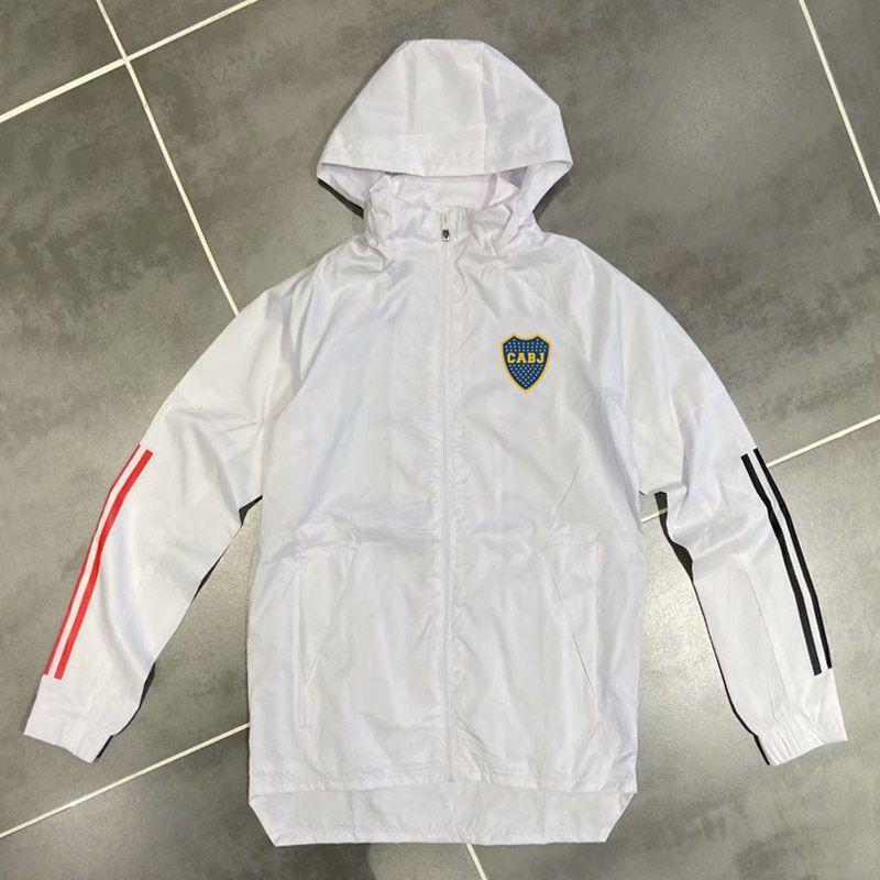 Yetişkin 20 21 Boca Juniors Hoodie rüzgarlık ceket 2020 2021 Kapüşonlular Sports ceketler Kapşonlu fermuar palto Running Erkekler Ceketler