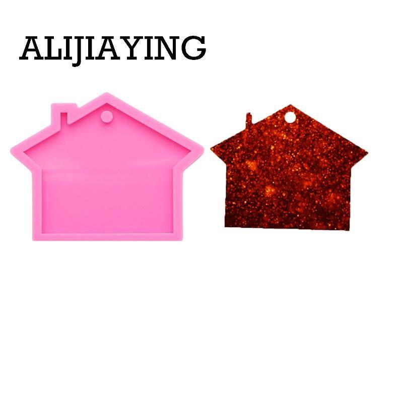 0112 DIY Casa chave forma de molde de silicone de molde de silicone anel para moldes de resina epoxi-chaves para as jóias
