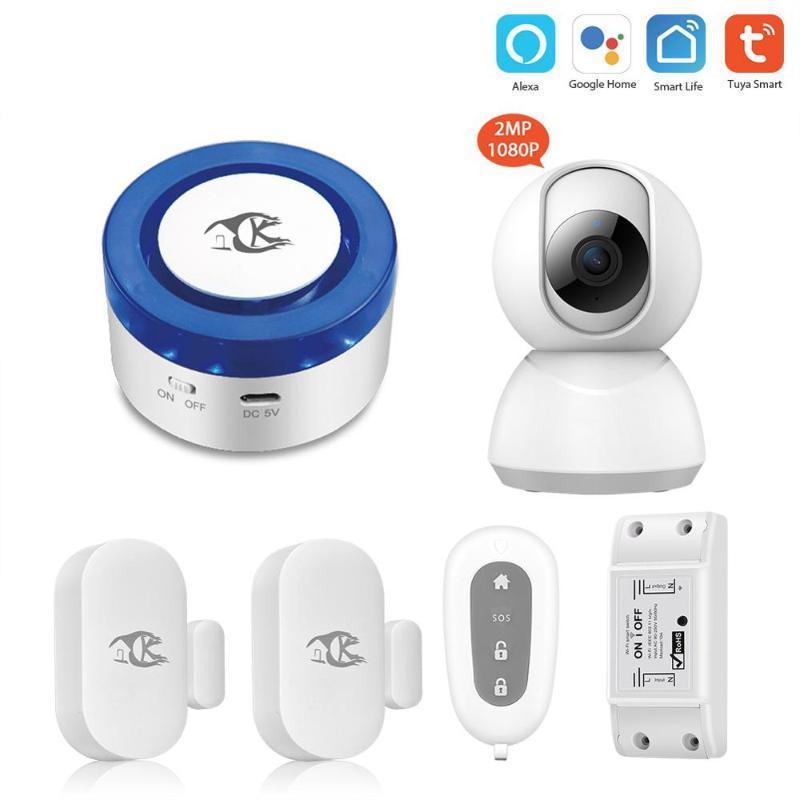 Tuya alarm güvenlik sistemi Akıllı ev APP Kontrol Kablosuz Alarm Sistemleri Akıllı yaşam Tuya