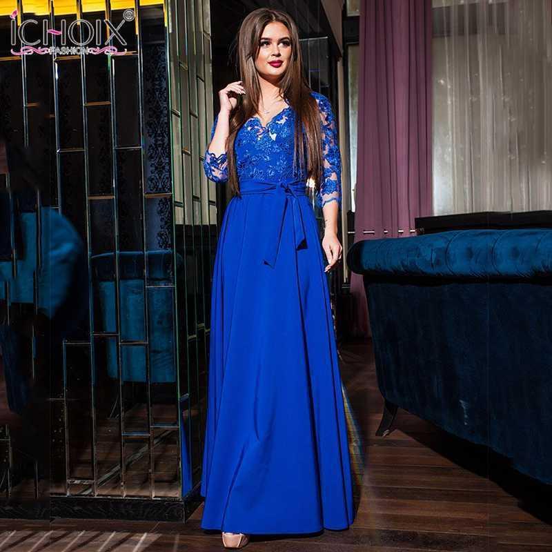 Günlük Elbiseler 2021 Trend Dantel Akşam Parti Elbise Kadın Yüksek Bel Uzun Maxi Kadın Yere Kadar Giyim Oymak