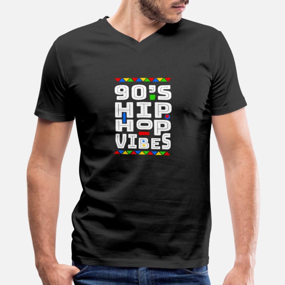 90 vibras Camiseta de HIP HOP hombres crean la camisa de algodón del O-Cuello unisex anti-arrugas Edificio Primavera Kawaii otoño