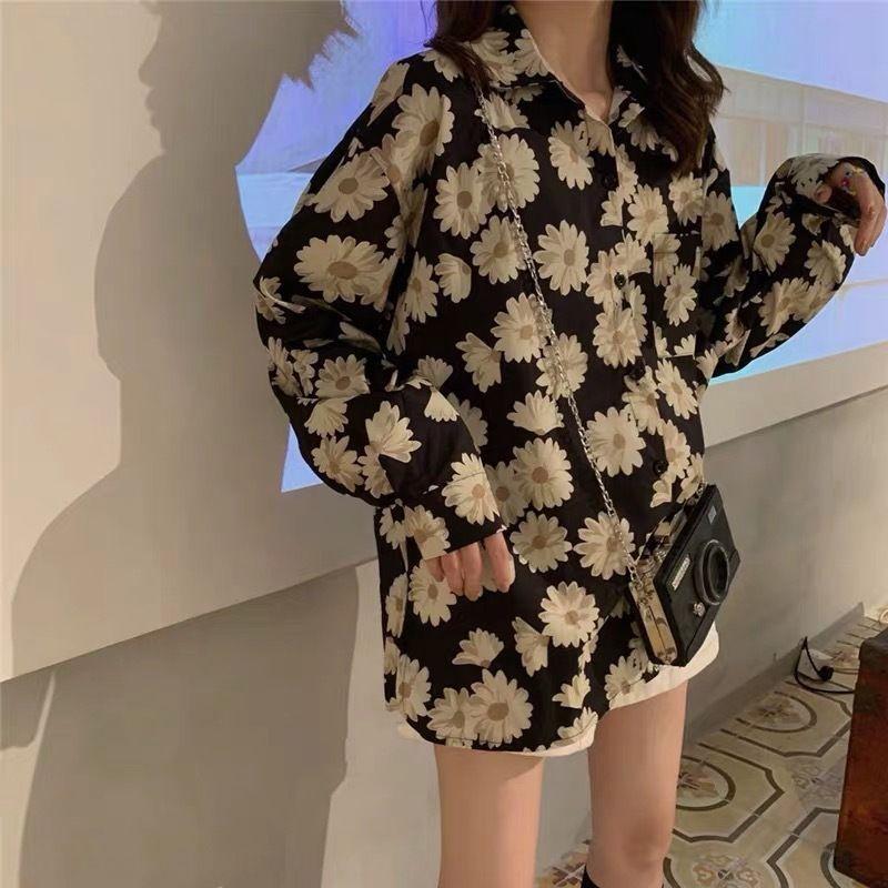 rqsJd 9YXR3 Hipster chiffon floral 2020 Verão Brasão Camisa de comprimento médio luz de mulheres elegantes e aluno da moda fina all-jogo prova de sol