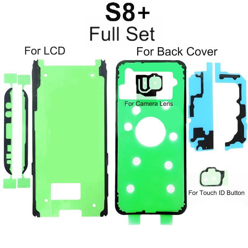 Samsung Galaxy S6 S7 S7EDGE S8 S8EG S9 S9EDGE LCD Ekran Ekran Geri Pil Kapağı Kamera Lens Su Geçirmez Yapışkan Sticker Bant Tutkal