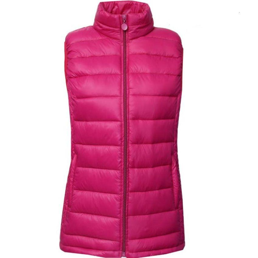 Winter New 5xl Frauen Sleeveless Weste Warm Down Jacket Plus Size