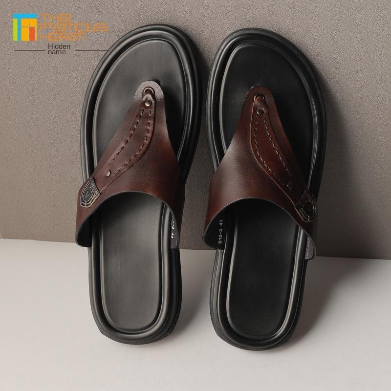 TFH мужчины флип-флоп сандалии и тапочки «s обувь | Лидирующий натуральная кожа тапочки мужские домашние туфли летние модные флип-флоп первый слой гр