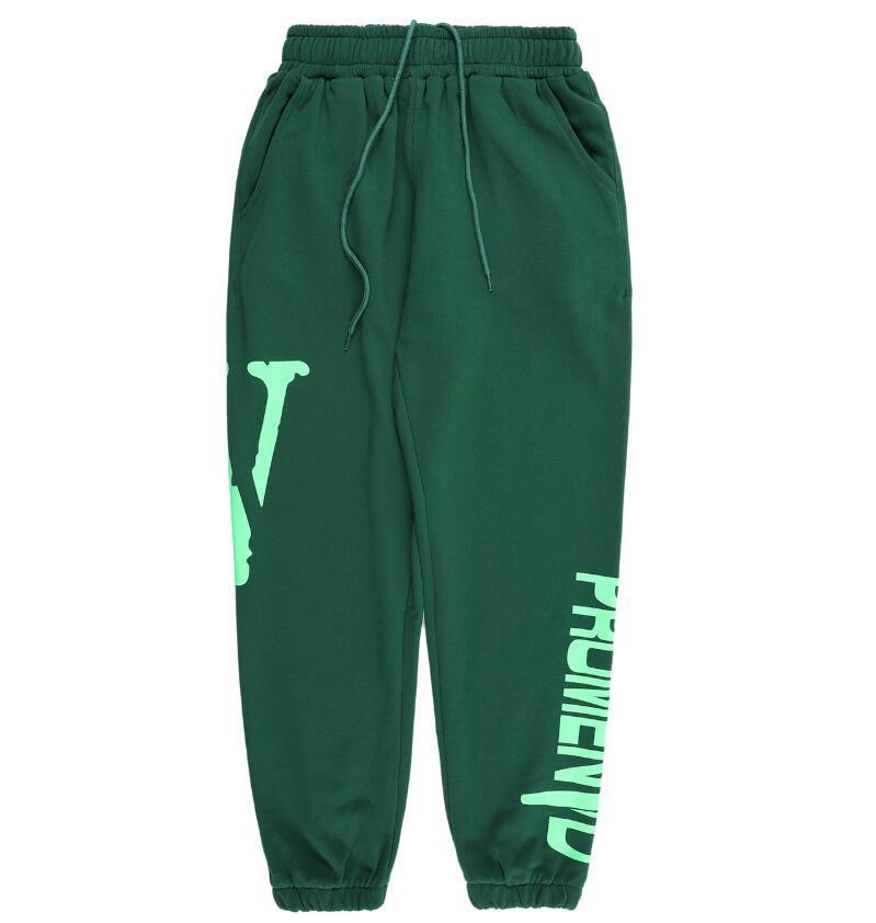 E20 Tide clásico de la firmaVlonePantalones para hombre Sweatpants Moda Joggers mujeres de los hombres de alta calidad del deporte que activan los pantalones de los pantalones S Beam Pie