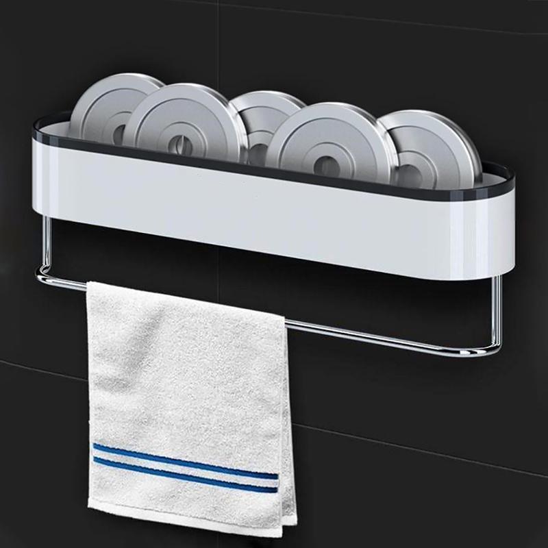 GESEW Depolama In Banyo Depolama Rafları Havlu Banyo Organizatör İçin Mutfak WC Ev Bahçe Banyo Aksesuarları Duvara monte