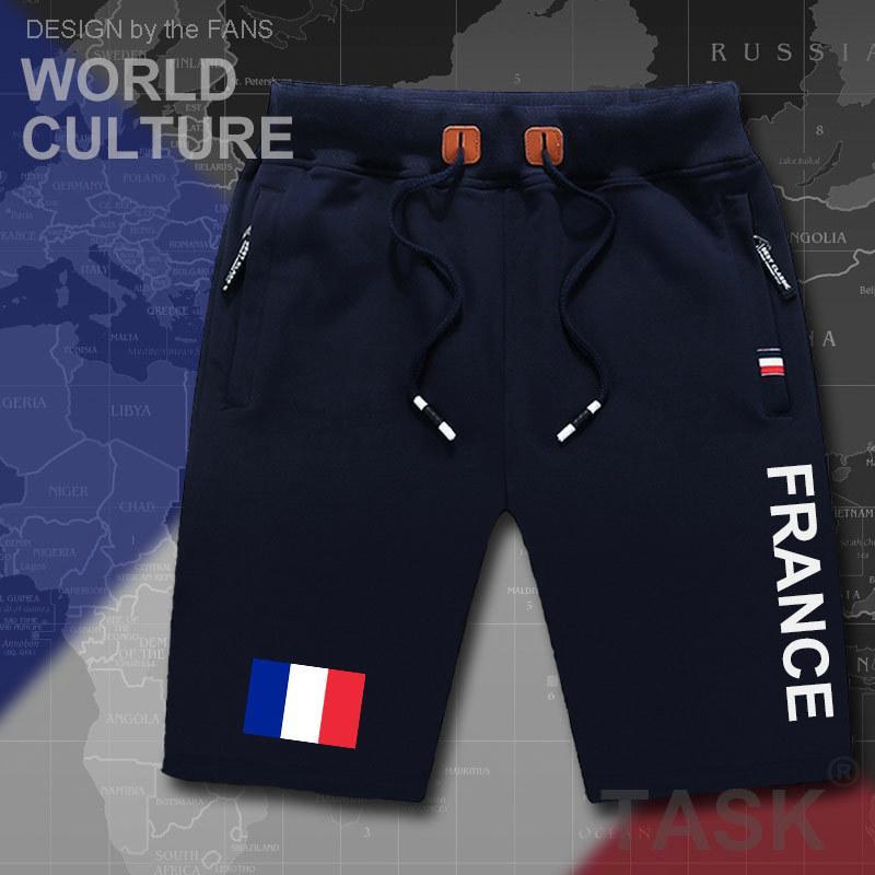 Fransa Fransa Cumhuriyeti mens şort plaj yeni erkek kurulu şort bayrak egzersiz fermuarlı cebi FRA gündelik Y200831 vücut geliştirici ter