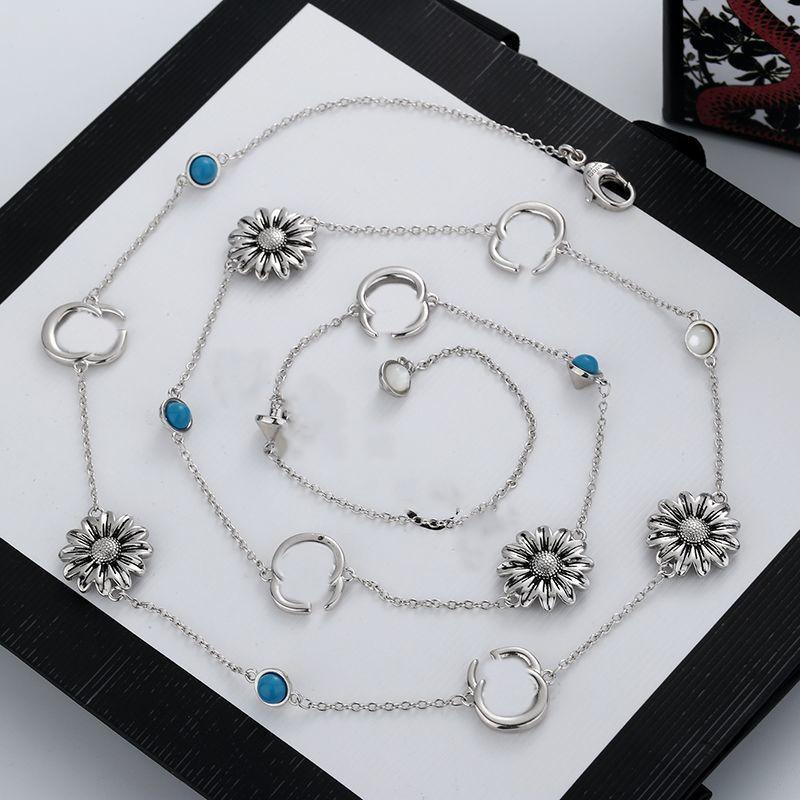 Nuovo prodotto fascino collana lunga collana a catena argento collana collana in smalto per la collana per gioielli donna