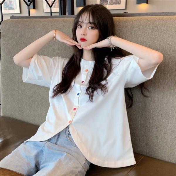 XqUN7 x7ytI ins Ethnic Super T-Shirt Nationalität Gruppe heißt 2020 Sommer neues koreanischen Stil Kurzarm-T-Shirt vorsichtig Studenten für Design sen